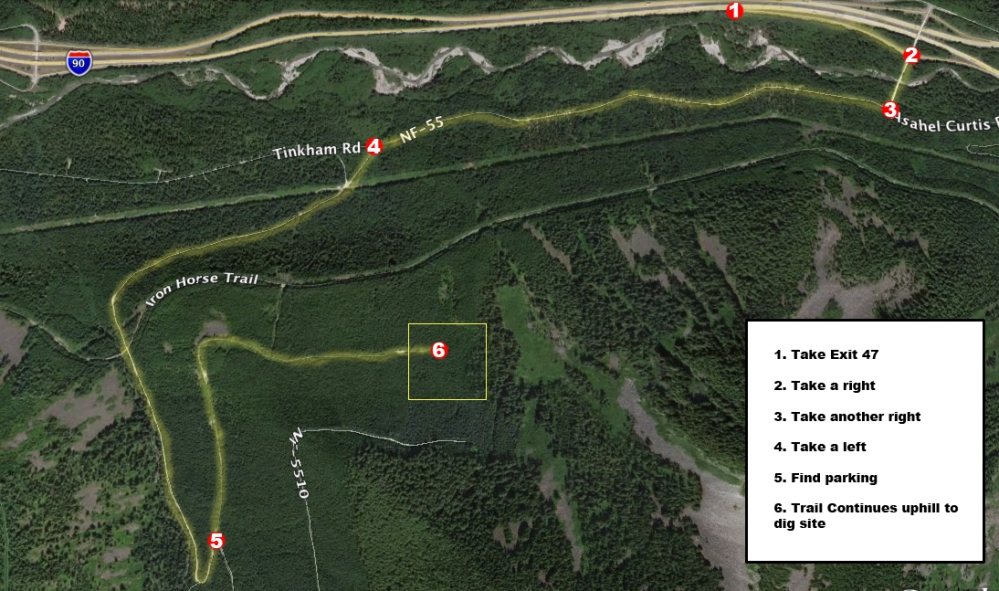 Hansen Creek Map